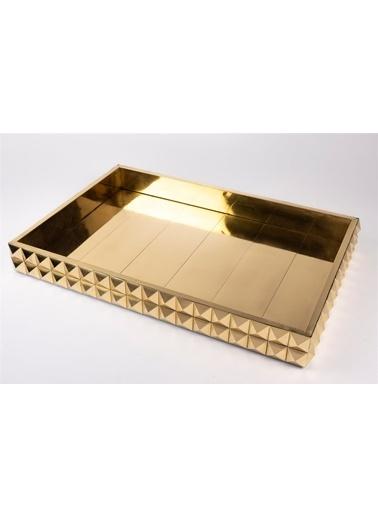 Mikasa Moor Gold Dikdörtgen Kabartma Tepsi 47X31Cm Gümüş